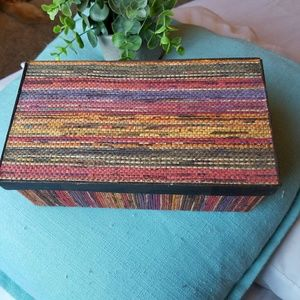 Other - Weaved colorful storage box